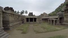 Hampi. Achutaraya Temple. Structure. Stock Footage