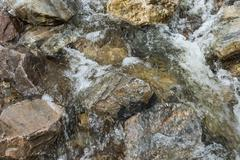 Brook Fast Flowing Water Stock Photos