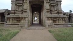Hampi. Achutaraya Temple. Gopura. Down view. Stock Footage