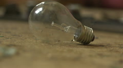 Old electric lamp lying around 2 Stock Footage