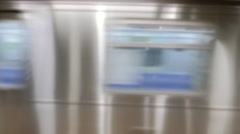 Travel City Speed Modern Motion 4K Public Transport Subway Station Train Metro - stock footage