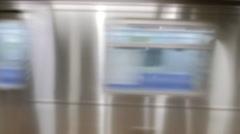 Travel City Speed Modern Motion 4K Public Transport Subway Station Train Metro Arkistovideo
