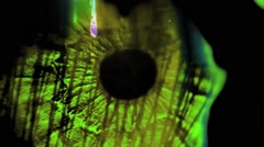 Vj Loop Effected Eye Close Up Art Visual Stock Footage