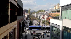 Stock Video Footage of 3RD STREET PROMENADE SANTA MONICA CALIFORNIA USA