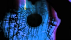 Vj Loop Effected Eye Close Up Art Visual - stock footage