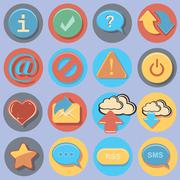 Buttons and signs Stock Illustration