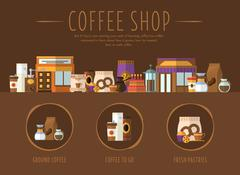 Coffee Shop. Flat Vector Illustration Stock Illustration