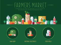 Farmers Market. Vector Illustration Piirros