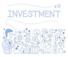 Investment Infographics. Vector Illustration - stock illustration