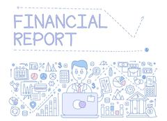 Financial Report Infographics. Vector Illustration Stock Illustration