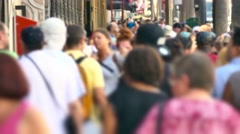 Crowd Walking City Blurred Motion Los Angeles People USA Tourism Pedestrians - stock footage