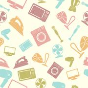 Seamless pattern of Household appliance Stock Illustration