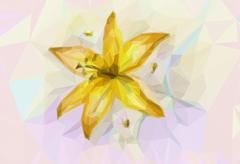 Floral Pattern with Lily Stock Illustration