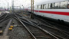 German highspeed ICE train at Frankfurt station Stock Footage