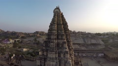 Hampi. Achutaraya Temple. Gopura. Virupaksha. Stock Footage