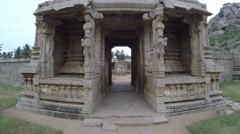 Hampi. Achutaraya Temple. Gopura. Stock Footage