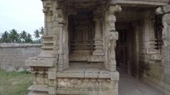 Hampi. Achutaraya Temple. Gopuram.  Part of the sculptureю Stock Footage