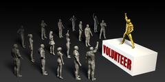 Volunteer - stock illustration
