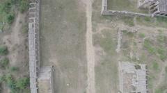 Hampi. Achutaraya Temple. Gopura. Top view. Stock Footage
