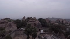 Hampi. Malavanta templ. Top view. Stock Footage