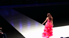 Models walk on the Valentin Yudashkin catwalk. Stock Footage