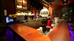 Interior of Mr. Help & Friends bar. Stock Footage