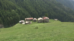 Some houses of shepherds Stock Footage