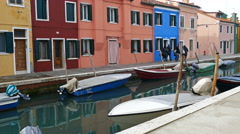 View of Burano, Italy. 4 K Stock Footage