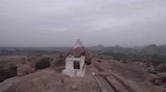 Hampi. Malavanta templ. White Shiva templ. Stock Footage