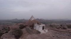 Hampi. Malavanta templ. Shiva templ. Stock Footage