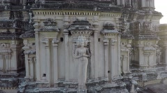 Hampi. Gopura. Virupaksha templ. - stock footage