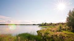 Nature Summer Sun Landscape Time Lapse Stock Footage