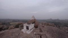Hampi. Malavanta templ. White templ. Stock Footage