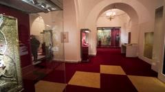 Exhibition `Boris Godunov. Stock Footage