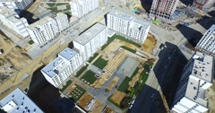 Aerial Shoot from Construction Site in Istanbul Stock Footage