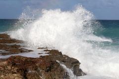 Cuba, Varadero, huge wave Kuvituskuvat