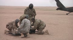 Soldiers receive  medevac training Stock Footage