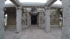Hampi STATUE  Achutaraya. temple Stock Footage