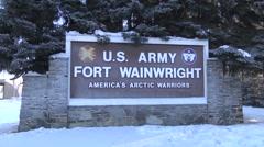 Footage of military base  Fort Wainwright Alaska Stock Footage