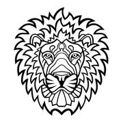 Lion head mascot Stock Illustration