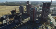 General Aerial Footage from Construction Site in Istanbul Stock Footage