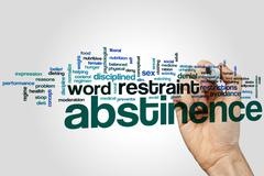 Abstinence word cloud - stock photo