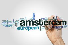 Amsterdam word cloud - stock photo