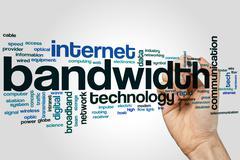 Bandwidth word cloud - stock photo