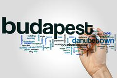 Budapest word cloud Stock Photos