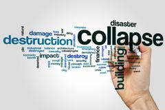 Collapse word cloud - stock photo
