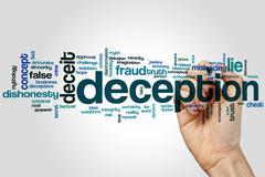Deception word cloud Stock Photos
