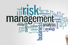 Stock Photo of Risk management word cloud