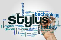 Stylus word cloud concept - stock photo