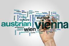 Vienna word cloud Stock Photos